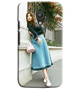 Blue Throat Girl Printed Designer Back Cover/Case For Motorola Moto G2