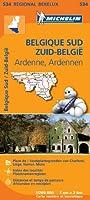 Carte Belgique Sud (Ardenne) Michelin