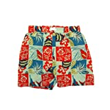 Infant Toddler Boys' Swimwear Patterned Swim Trunks – Different Designs Available, Hawaiian Print, 4T