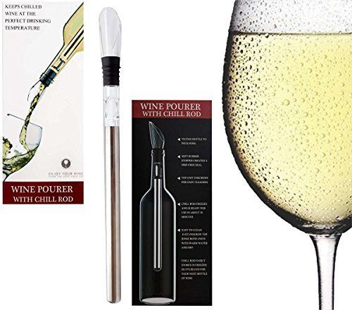 Mulberry Stone Cold Ice Wine Bottle Chiller 3-in1 Rapid Iceless Instant Signal Wine Chiller/Rod. Portable Wine Chiller Rod Cooler with Aerator and Pourer. (Stove Counter Trim Kit compare prices)
