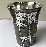 薩摩錫器 手作り 高級 コップ 150ml (竹)鹿児島県 伝統工芸品
