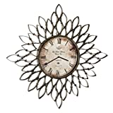 Antique Finish Sculptural Wall Clock