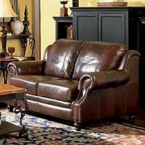 Hot Sale Classic Tri Tone Leather Loveseat