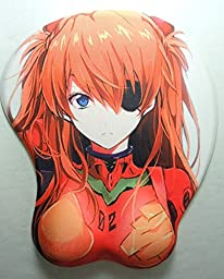 3D mouse pad - Evangelion Soryu Asuka Langley in red plugsuit