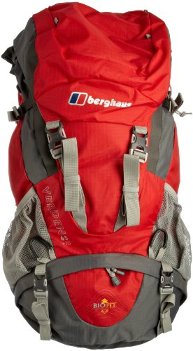 Berghaus Verden 65 +10 Men's Rucksack - Red/Castle Rock, 75 lt