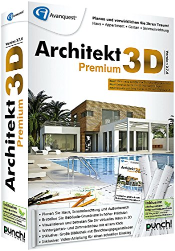 architekt 3d x7 6 premium 3d haus gartenplaner. Black Bedroom Furniture Sets. Home Design Ideas