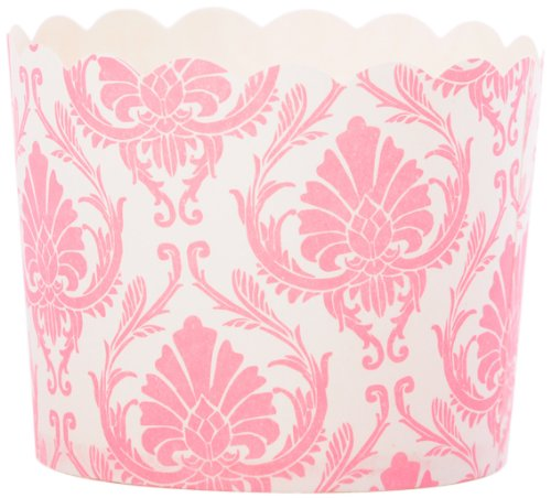 Simply Baked Paper Baking Cup 20-pack, Light Pink Damask, Large