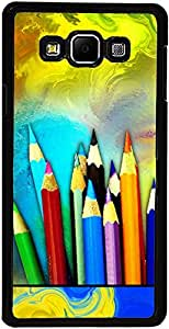 PrintVisa Case Covers for Samsung Galaxy A3 (D7631 Abstract Pencil Color)
