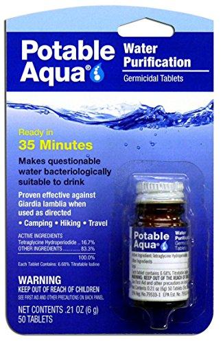 Potable Aqua Water Treatment Tablets