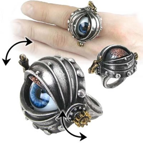 Alchemy Empire: Steampunk Automaton's Eye Ring