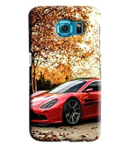 Blue Throat Sports Car In Red Printed Desginer Back Cover/Case For Samsung Galaxy S7