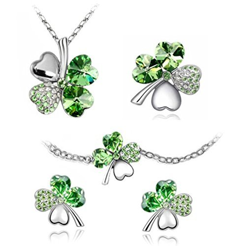 The Four Leaf Jewelry set 5 Pieces Classic Green - Necklace,