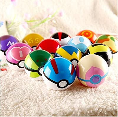 9 Pieces Plastic Super Anime Figures Balls for Pokemon Kids Toys Balls from Generic