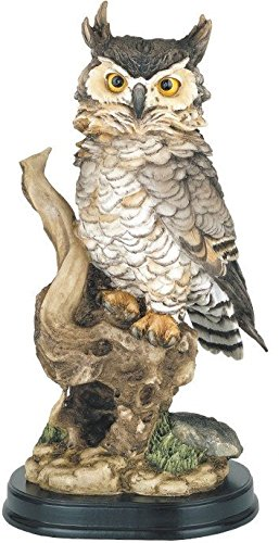 StealStreet SS-G-54073, Owl Perching Collectible Wildlife Animal Figurine Statue Sculpture