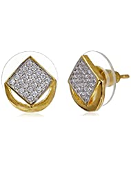 Sia Art Jewellery Stud Earrings For Women (Golden) (AZ2612)