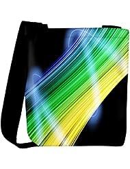 Snoogg Bunch Of Light Vectors Designer Womens Carry Around Cross Body Tote Handbag Sling Bags