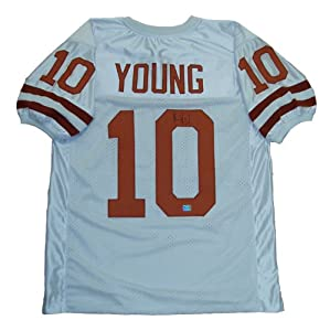 Vince Young Signed Texas Longhorns White Jersey by RSF+Memorabilia