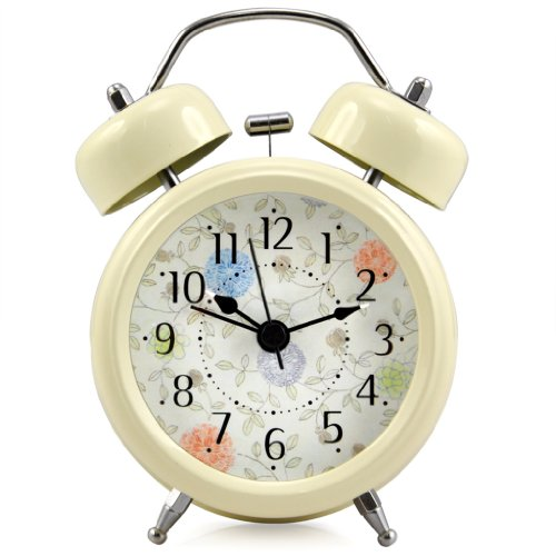 Retro Style Double Bell Alarm Clock with Light. Remember the days when alarm clocks were simple and didn't require batteries or electric to work?