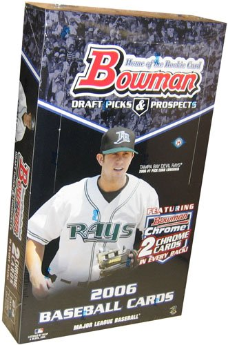 2006 Bowman Draft Picks and Prospects Baseball Hobby Box (Featuring 2 Bowman Chrome Cards Per Pack)(1 Autograph & 1 Relic Per Box)