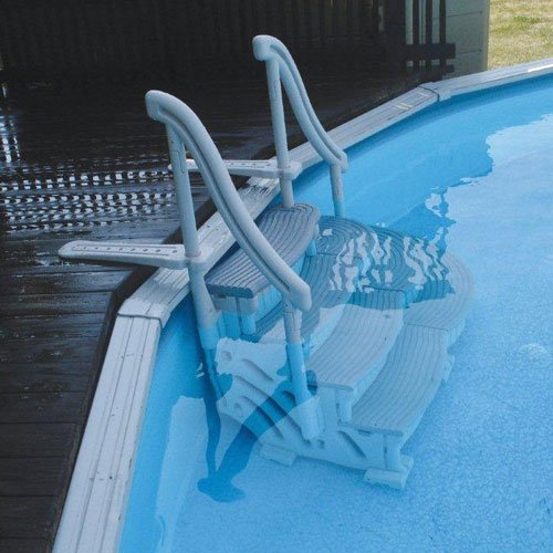 Confer Curve Above Ground Pool Step System 58330 bestway 42 1 07m safety pool ladder specially designed ladder for above ground swimming pool of height 1m pool staircse