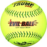 Trump® MP-EVIL-ISA-Y Evil Sports 12 Inch Yellow Leather Cover (with Micro Cell Technology) ISA Softball (Sold in Dozens)