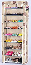 Easy Nine Layer Flower Print Shoe Rack/Shoe Shelf/Shoe Cabinet,Easy Installation Stand For Shoes-Multicolor
