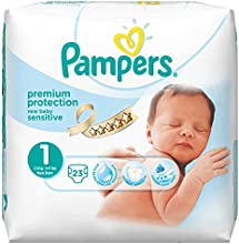 Pampers Windeln New Baby Sensitive Gr. 1 Newborn 2-5 kg Tragepack, 4er Pack (4 x 23 Stück)