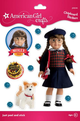 American Girl Crafts Sturdy Stickers, Molly McIntire Navy Argyle Sweater