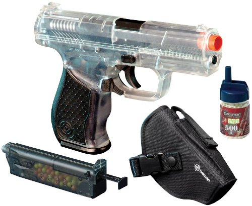 Crosman Stinger P9. AirSoft Pistol with a Holster. (Clear/Black)