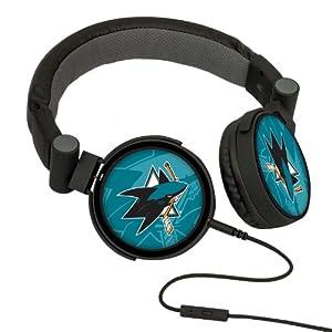 NHL San Jose Sharks Oversized Logo Headphones by Pangea Brands