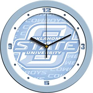 Oklahoma State Cowboys NCAA Wall Clock (Blue) by SunTime