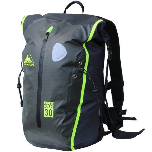 30L super leichter wasserdichter Outdoor Rucksack Packsack für Fahrrad, Wassersport etc., Farbe: Grey
