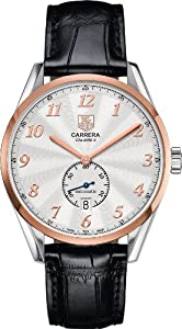 TAG Heuer Carrera Heritage Automatic Siver Dial Mens Watch WAS2151.FC6180