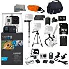 GoPro HERO3+ Black Edition Camera Kit | CHDHX-302 | Includes: Monopod, Full Size Tripod, Gripster Tripod, 32GB Micro SD Card, Card Reader, Replacement Battery, Floating Strap, Case & More