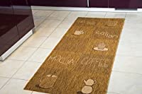 "Modern Rug Kitchen Runner Creation Lounge Coffee Beans Natural Washable Dirt Stopper, Size 80x200 cm (2'7""x6'6 by Steffensmeier"