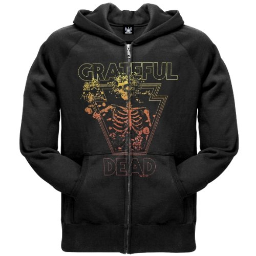 Old Glory Mens Grateful Dead - Retro Bertha Zip Hoodie - 2X-Large Black