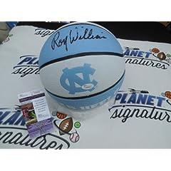 Roy Williams Signed North Carolina UNC Tar Heels Logo Basketball JSA COA