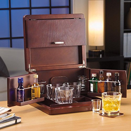 brookstone mini bar portable tabletop bar and accessories buy small appliances online. Black Bedroom Furniture Sets. Home Design Ideas