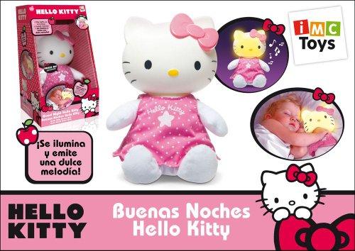 Peluche Hello Kitty Buenas Noches Con Luz Y Música