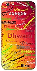 Dhwani (Sound) Name & Sign Printed All over customize & Personalized!! Protective back cover for your Smart Phone : Moto X-Play