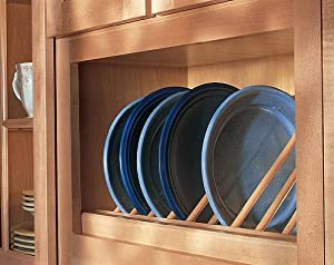 Omega National P2203 36-Inch W Angled Plate Display Rack, Maple
