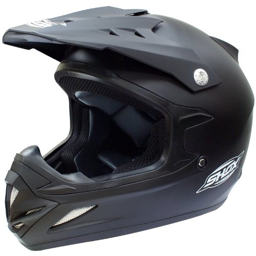 Shox MX-1 Solid Motocross Helmet XS Matt Black (ACU Approved)