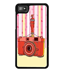 PrintDhaba Camera D-3908 Back Case Cover for BLACKBERRY Z10 (Multi-Coloured)