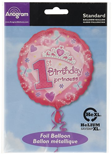 "Amscan - 1st Birthday Princess 18"" Foil Balloon"