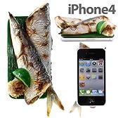 [SoftBank/au iPhone 4S/4専用] 食品サンプルカバー(サンマ)
