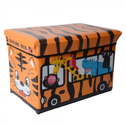 Kly Tiger Bus Pattern Multifunctional Protective Stool Holder Brown 13012604 front-593042