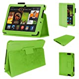 Stuff4 MR-KFHDX7-LMAG-G-STY-SP PU Leather Professional Portfolio Magnetic Case/Stand Cover for 7 inch Kindle Fire HDX 7 - Green