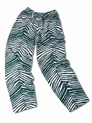 Philadelphia Eagles ZUBAZ Green White Vintage Style Zebra Embroidered Logo Pants