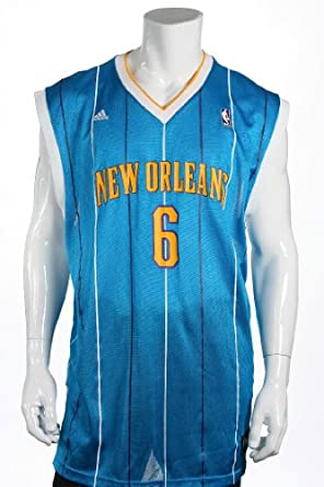Adidas Mens Blue Graphic NBA New Orleans Hornets Tyson Chandler Jersey by adidas