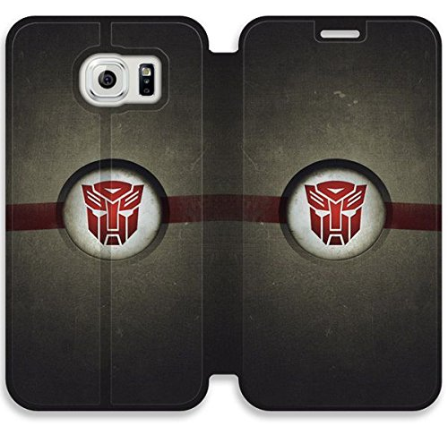 Autobots Logo Transformers V1X6C Leather Case Design For Samsung Galaxy S6 Edge,Duplex Flip The Latest Painted Cover Samsung Galaxy S6 Edge Leather Case Hot Sale